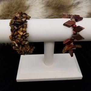 Jewelry - Semi-precious stone strechy bracelets